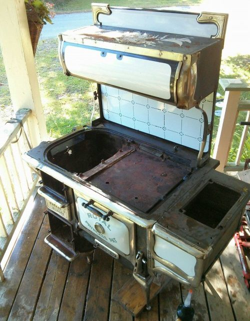 How to refinish a country stove like a super hero..